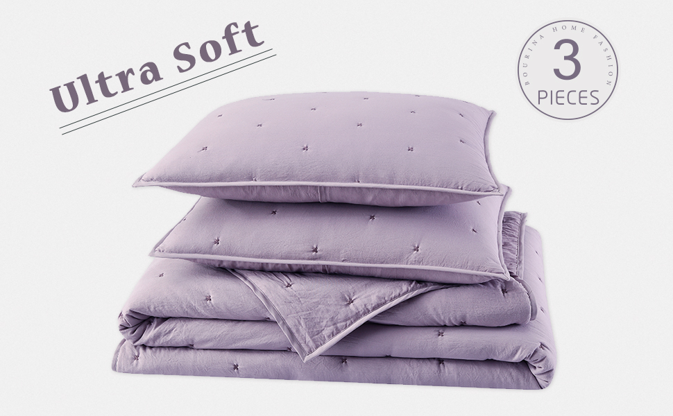 3-Piece Pre-Washed Microfiber bedspread set