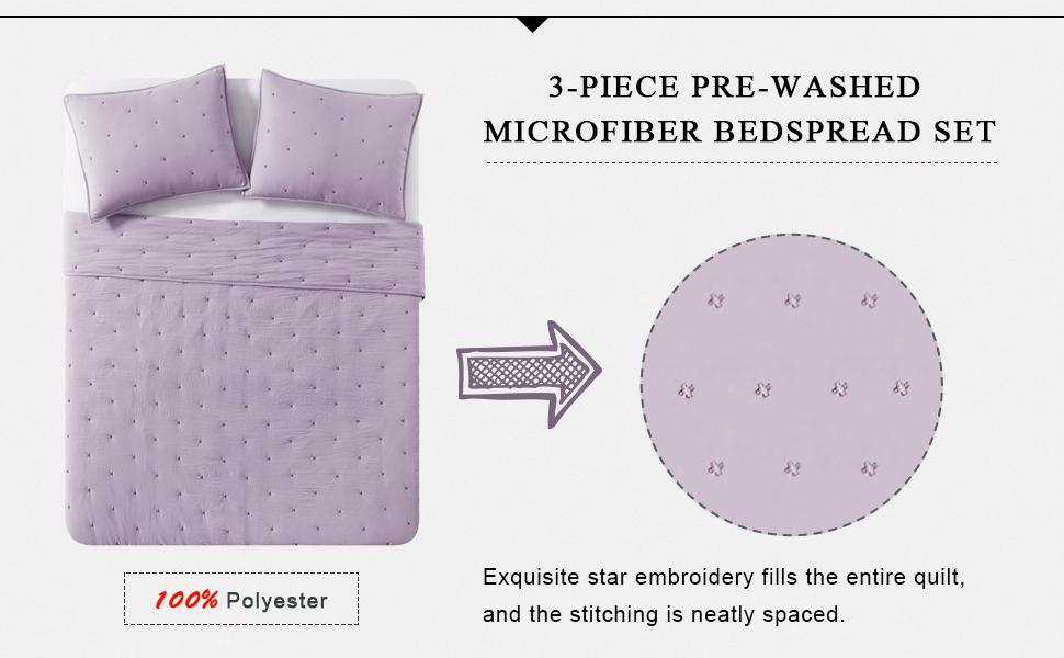 3 pcs bedspread set