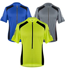 Aero Tech Men s Elite Coolmax Cycling Jersey with 3M Reflective for  Visibility 5b9fab25f