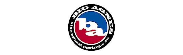 Big Agnes, red, blue, and black logo
