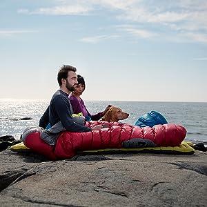 Camping by ocean