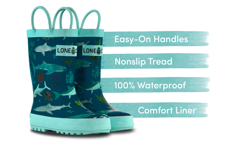 Lone Cone rain boots for kids are durable and fun!