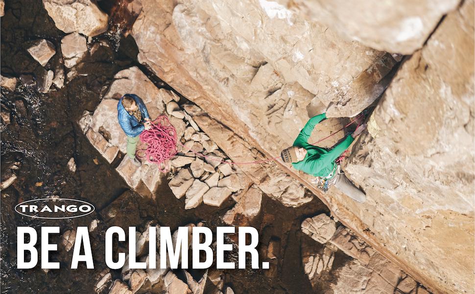 Trango crack climbing with Trango climbing gear
