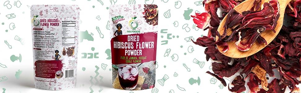 Glutenfree Hibiscus Flower Powder 4 Ounces Kosher Certified