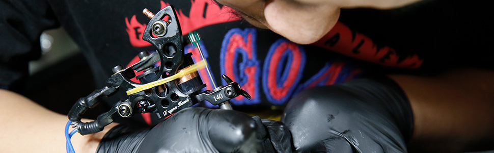 9b734569b Amazon.com: Dragonhawk Complete Tattoo Kit 2 Machine Gun 10 Color ...