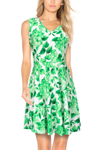 d88d20aa36 Try a printed fit-and-flare dress this summer for a thoroughly ladylike look