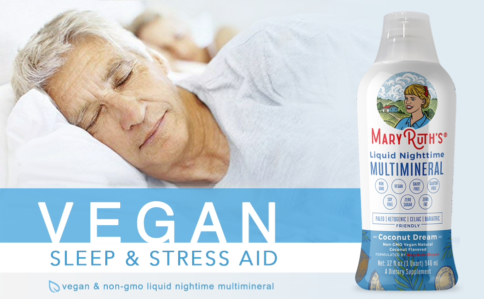 MaryRuth's Vegan Nighttime Liquid Multimineral Coconut Vegan NON GMO