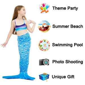 Amazon.com: Play Tailor Mermaid Tail Swimmable Costume