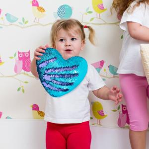 mermaid glitter heart cushion reversible sequins pillow mermaid pillow mermaid sequin pillows