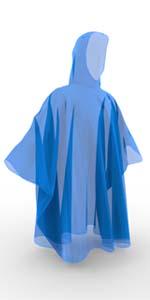 blue rain poncho