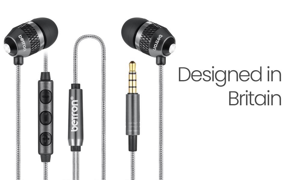 Betron b25 noise isolating earphones tangle free banner