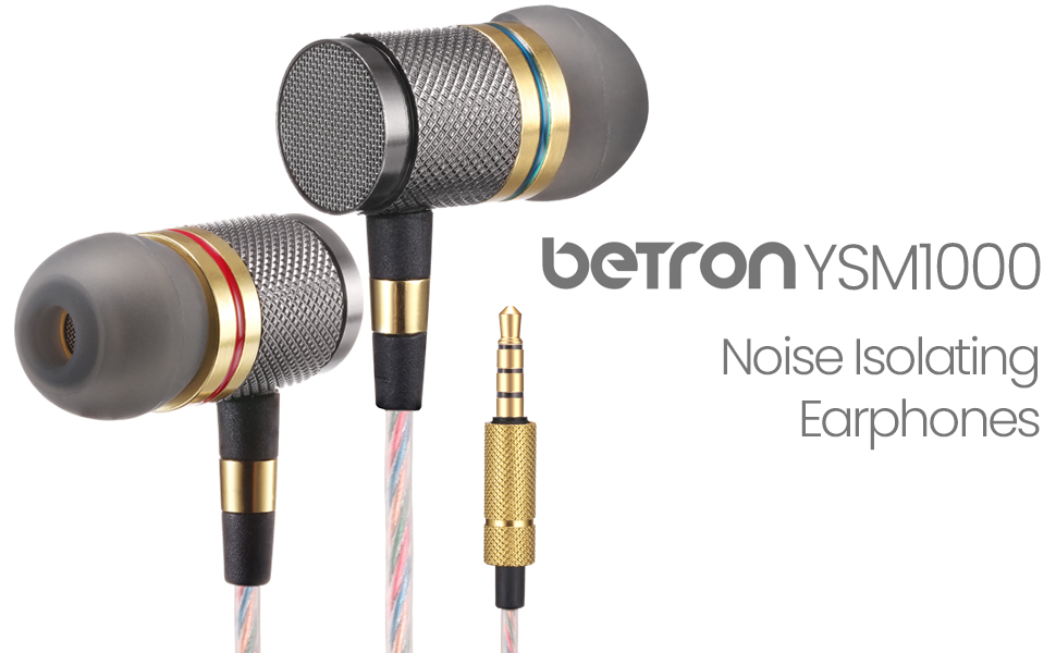 betron ysm1000 noise isolating earphones