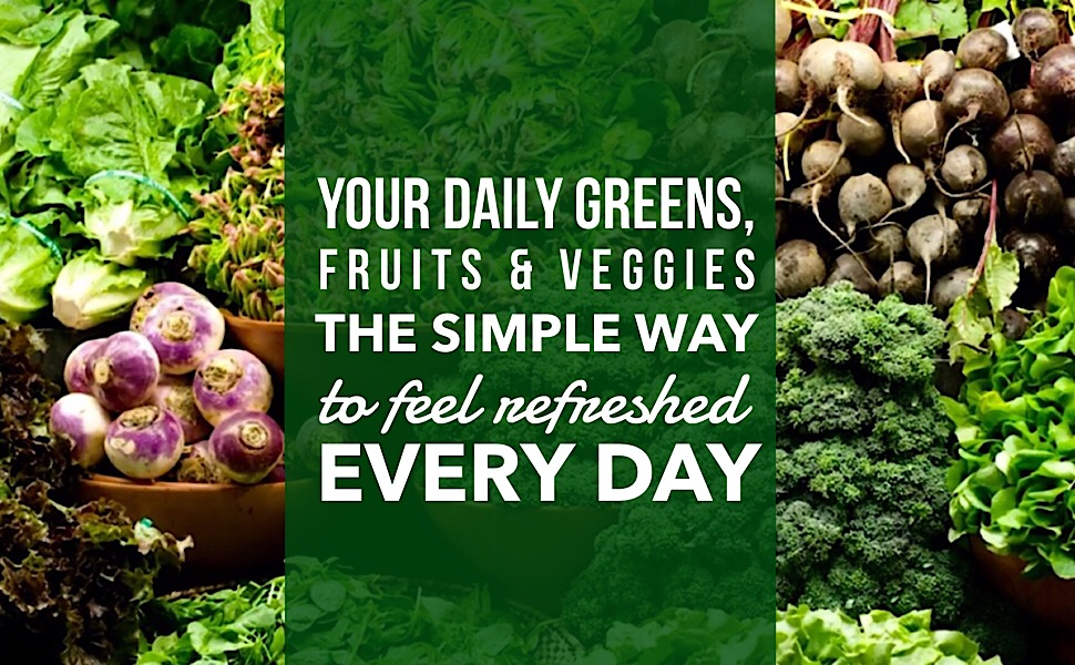 Your Daily Fruits amp; Veggies in only two organic tablets, sunergetic premium supplements