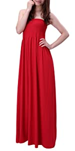 cde417e0d57 HDE s Strapless Maxi Dress · HDE s New Halter Maxi Dress with Pockets