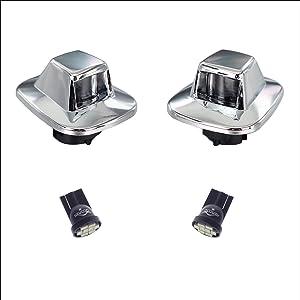 led license plate light lamp lens white bulbs chrome truck rear housing for chevy blazer tahoe gmc