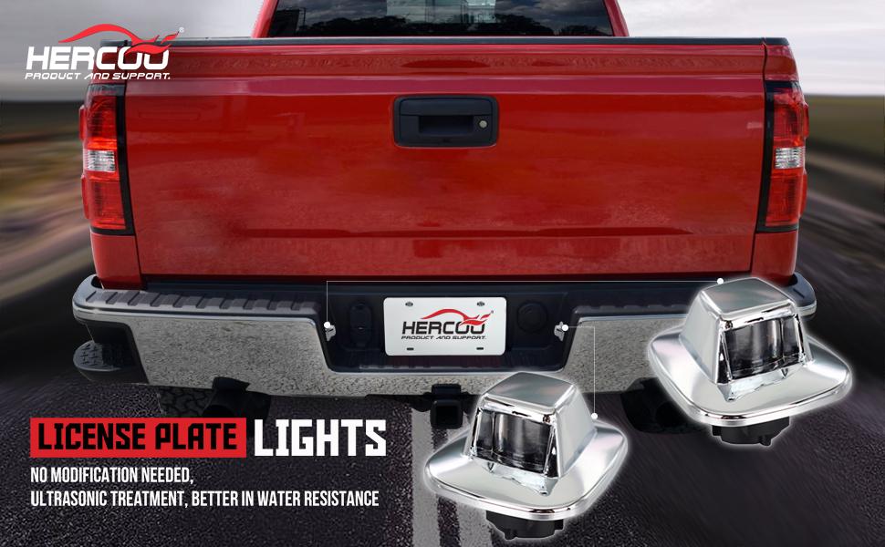 license plate lights lamp lens truck rear step bumper chrome housing for chevy blazer tahoe gmc