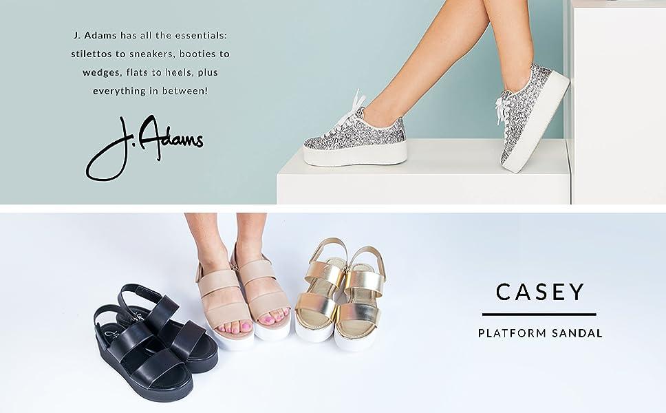 1f86880159 Amazon.com | J. Adams Casey Platform Sandal - Comfortable Double ...