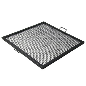 Sunnydaze X-Marks Fire Pit Cooking Grill Grate, Outdoor Square BBQ Campfire Grill, Camping Cookware, 40 Inch