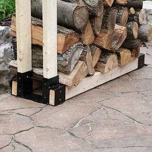 Amazon Com Sunnydaze Outdoor Firewood Log Rack Bracket