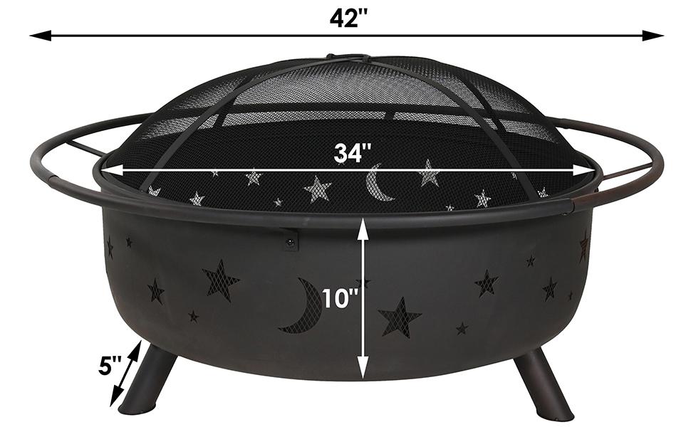 Amazon Com Sunnydaze Cosmic Outdoor Fire Pit 42 Inch