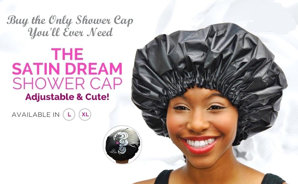 c8609ea2233 Amazon.com   Adjustable Large Shower Cap - The Satin Dream ...