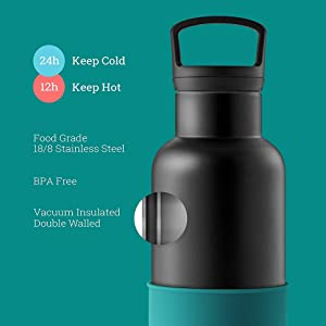 Hydy double wall vacuum insulated stainless steel tumbler travel cup with lid water bottle