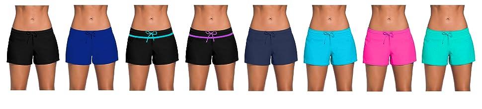 78c32e4cb6 ChinFun Board Shorts Women's Swimswear Tankini Swim Briefs Swimsuit ...