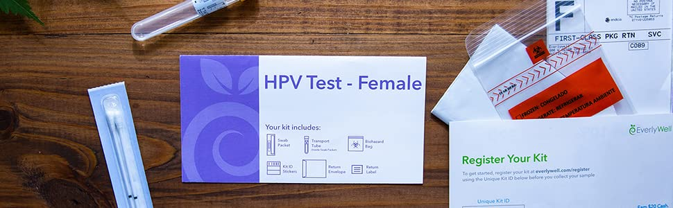 Everlywell - Female at-Home HPV Test – Physician Approved Lab Tests from  The Comfort of Your Home