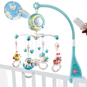crib mobile blue