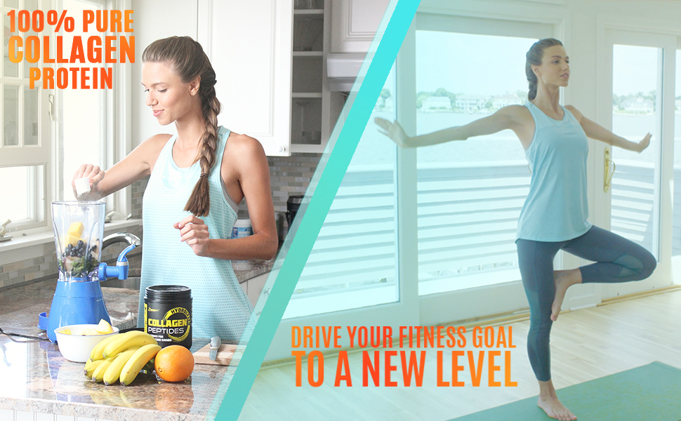 100% PURE COLLAGEN PROTEIN - DRIVE YOUR FITNESS GOAL TO A NEW LEVEL