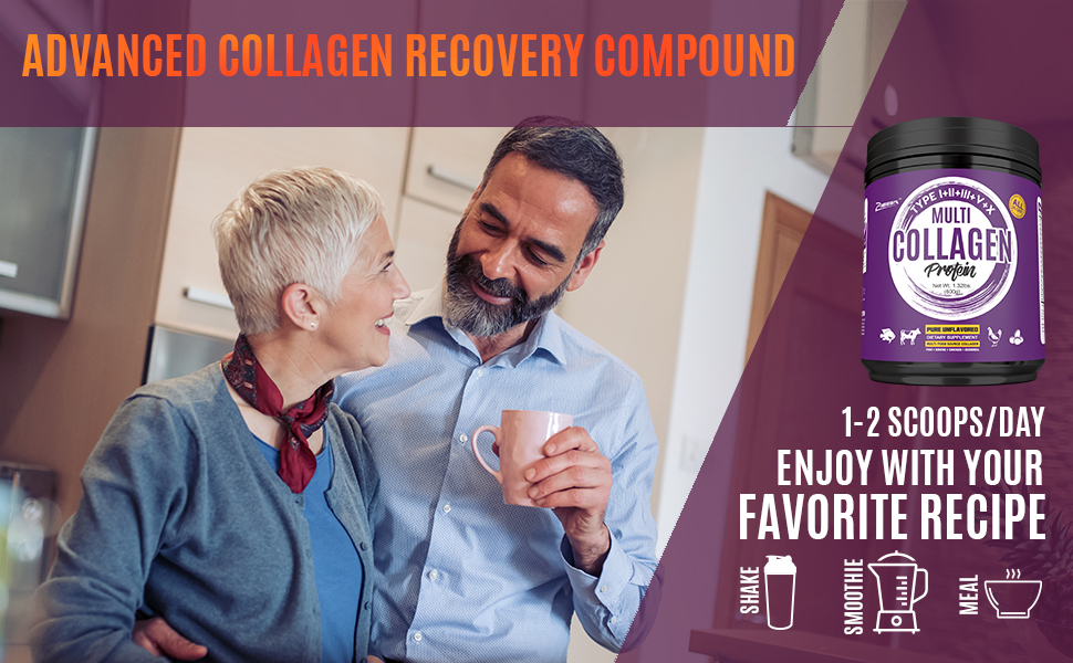 Advanced Collagen Recovery Compound Mix Well in Hot and Cold Liquids Odorless with Smooth Taste