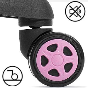 Pink Noiseless Wheels