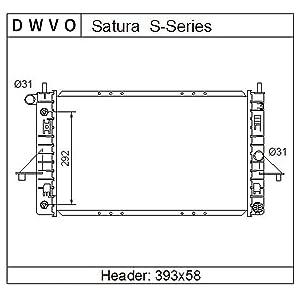 Complete Radiator for 1994-2002 Saturn SC1 SC2 1994-2002 Saturn SL SL1 SL2 1994-2001 Saturn SW1 SW2 Series 1.9L L4 4Cyl
