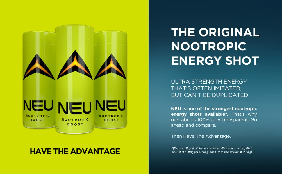 Amazon Com Neu Extra Strength Nootropic Energy Shots Energy Drink