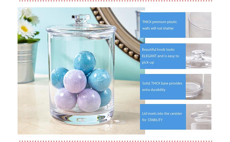 STORi clear plastic apothecary jar