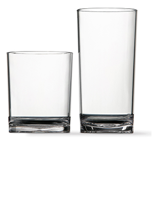 classic clear plastic 12oz and 16oz drinking cups