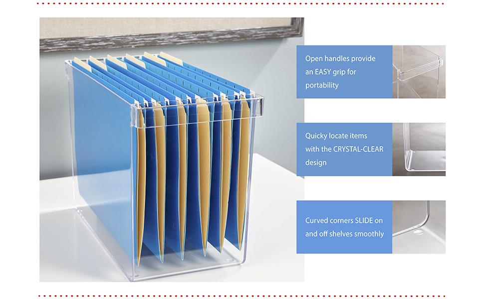 Amazon Com Stori Clear Plastic Hanging File Organizer