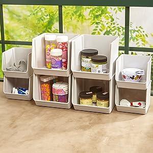 kitchen organizer bins