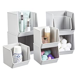 bathroom organizer bins