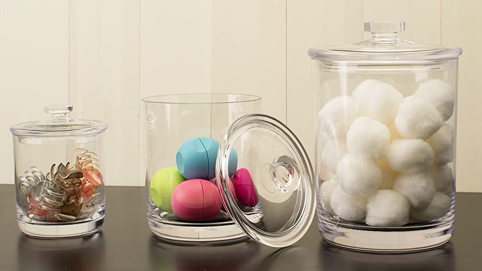 Canisters Are An Easy Way To Organize The Little Things We Use Every Day In  The Bathroom. From Cotton Swabs To Cotton Balls And More, These Containers  Are ...