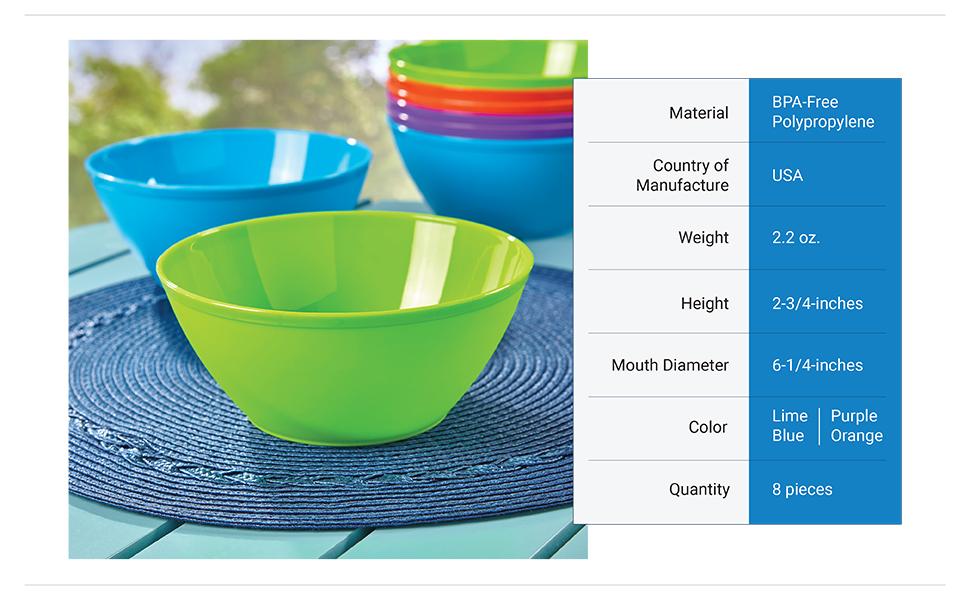 4 3//4 Inch Multi-Color MULTI-FUNCTION GLASS BOWL