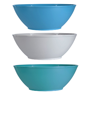 fresco 10in plastic serving bowls coastal
