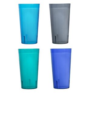 cafe 20oz water tumblers coastal colors