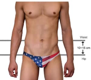 6c5284cb9f This swimming briefs is low-cut design. Please measurement is hip area not  waist area. Please check the photo.