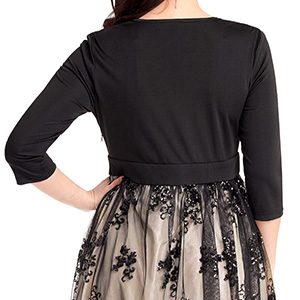 3/4 sleeve and waistband