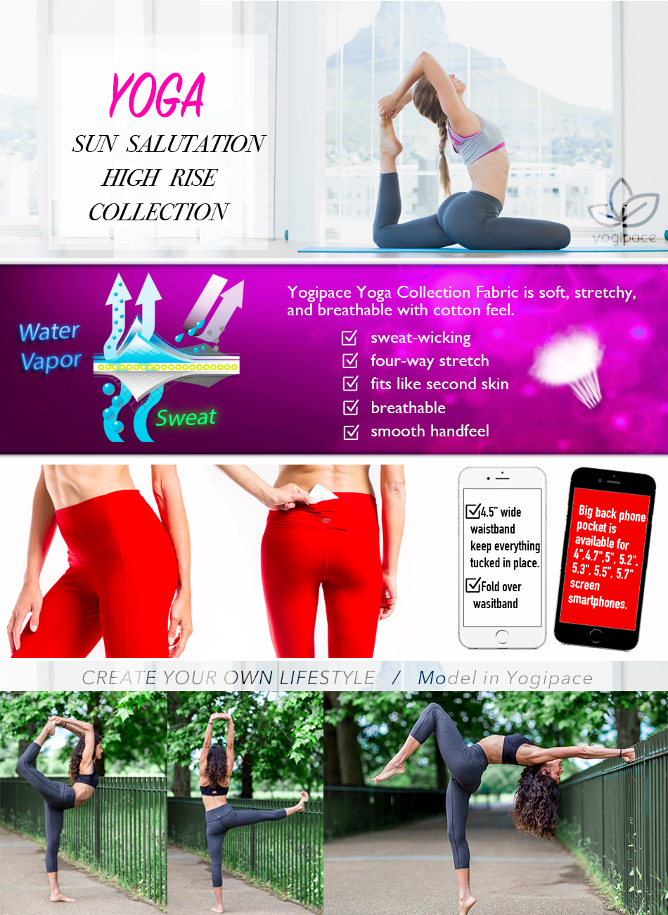 1913c5dc9197c0 Amazon.com: Yogipace Women's High Waisted Yoga Workout Fitness ...