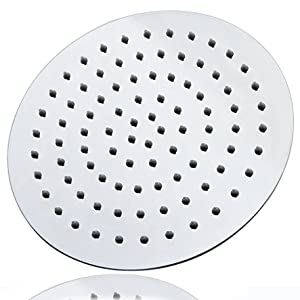 10 inch rain shower head. Style  Rain Shower Head Material Stainless Steel Finish Chrome Color Silver Shape Round Installation Type Fixed or Ceiling Wall Mounted Artbath 10 Inch Large Ultra Thin 304