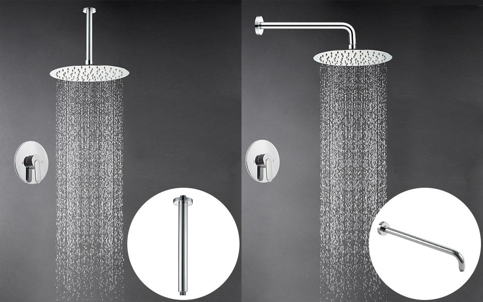 Artbath 10 Inch Round Large Rain Shower Head Ultra Thin