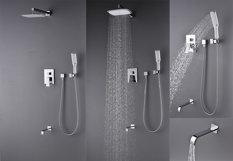 Black Friday Deal Artbath Luxury Rain Mixer Shower Combo Set Wall ...