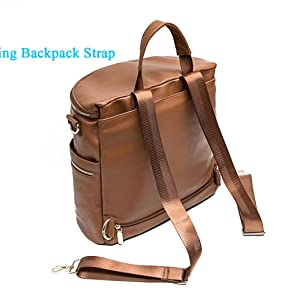 855014857 Amazon.com : Leather Diaper Bag Backpack by Miss Fong, Diaper ...